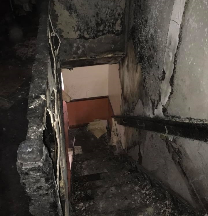 Burnt Out Stairwell