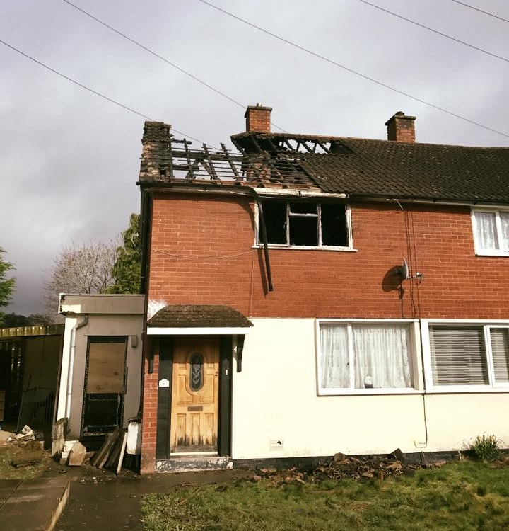 Fire Damaged House Renovation Welshpool