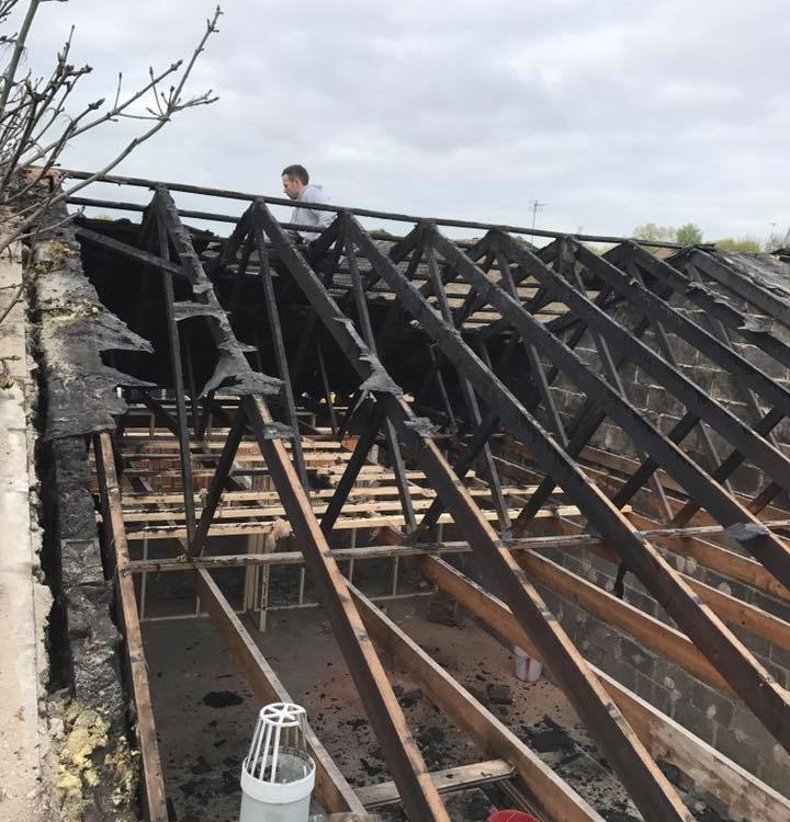 Fire Damaged Roof Renovation