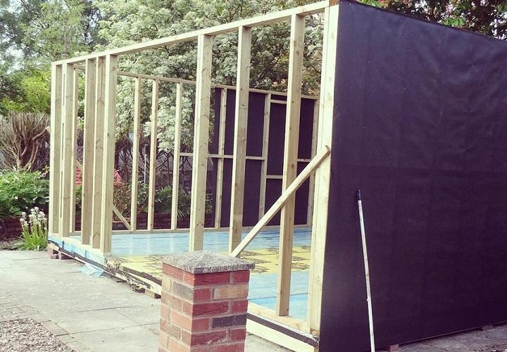 Timber Framed Summer House First Fix