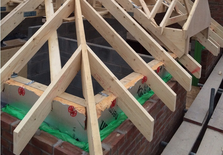 First Fix Roofing With Dormer Window Cut