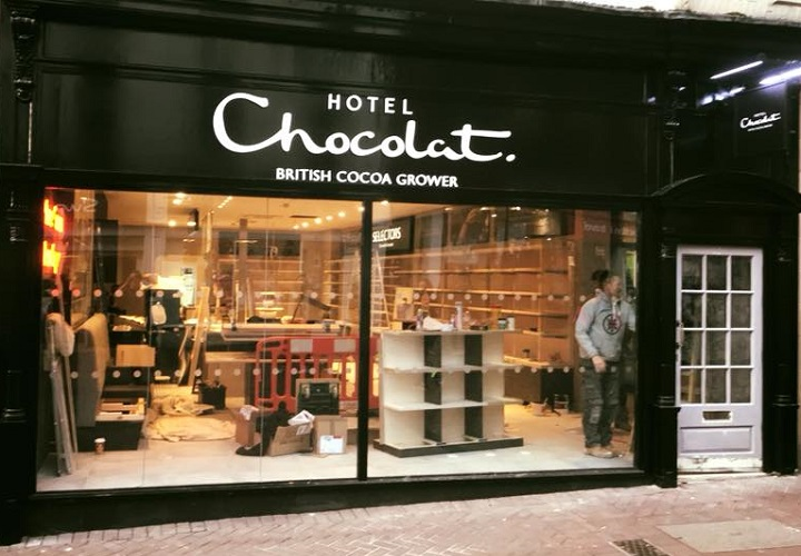Shop fitters for Hotel Chocolat UK